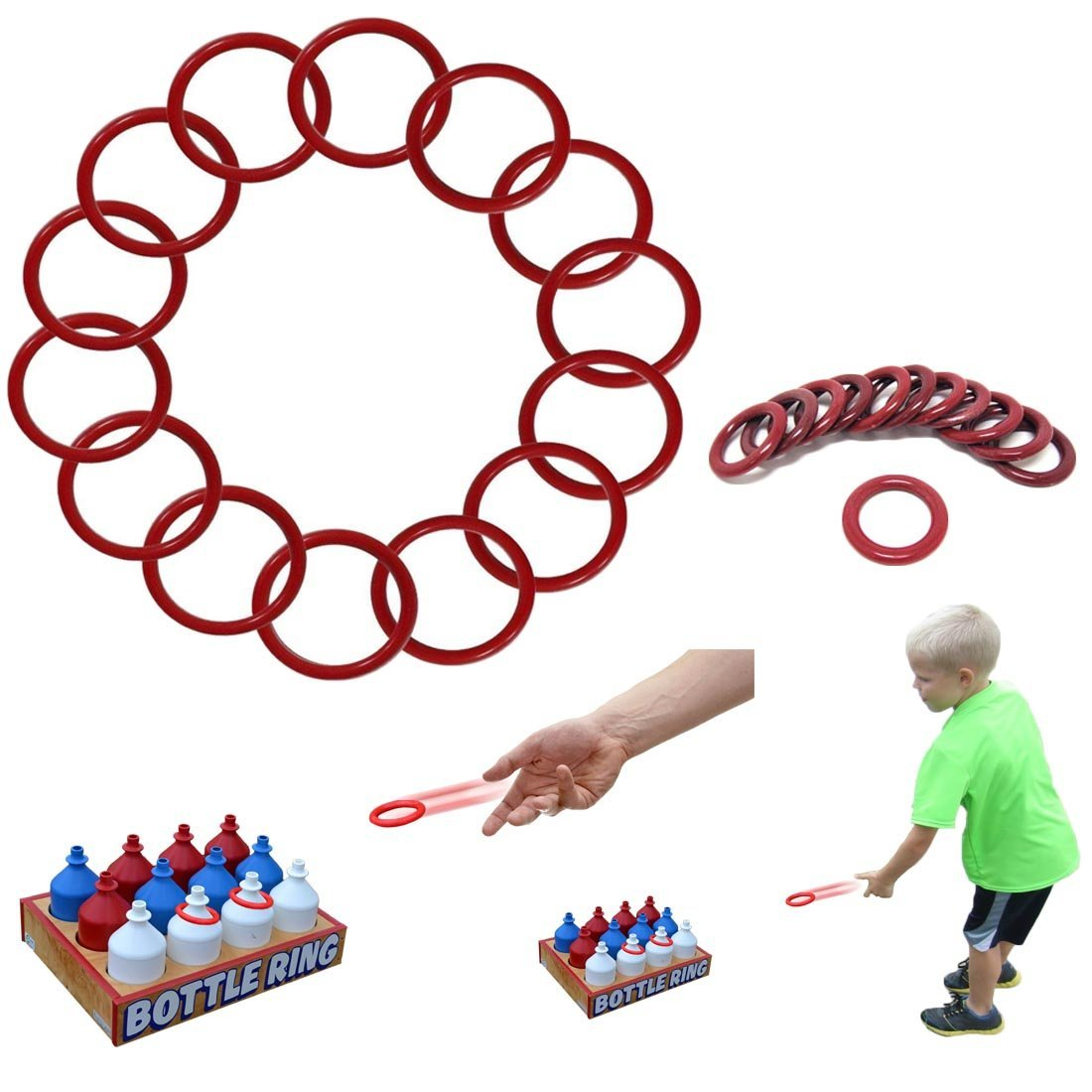 Dazzling Toys Small Ring Toss Rings 3 Inch Rings - Pack of 24