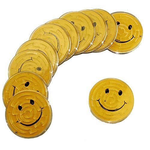 Dazzling Toys Smiley Maze Game, Great Party Favor or Activity, 12 Pieces per Pack