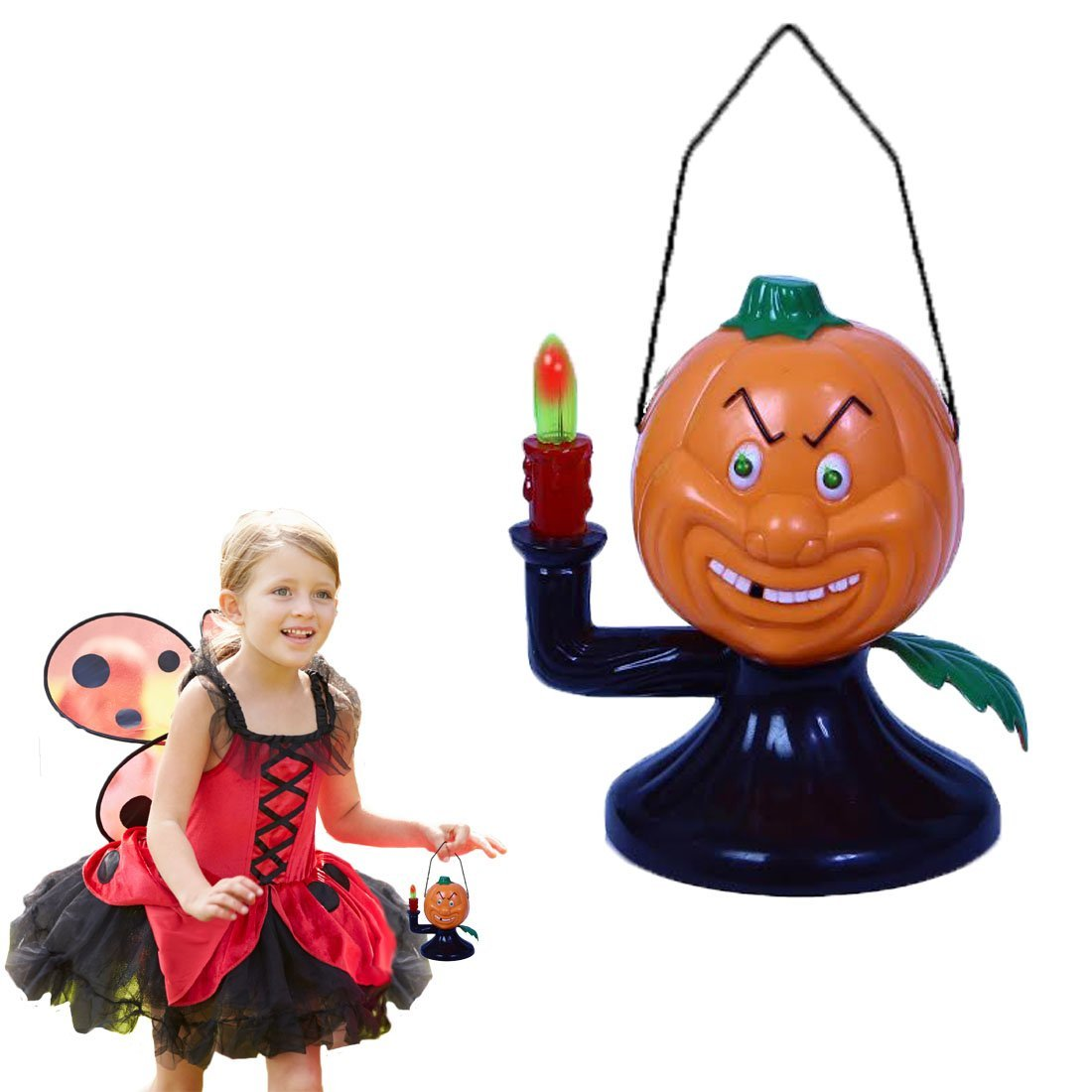 Halloween Electric Pumpkin Ghost With Lights and Scary Sounds | Perfect Halloween Party Enhancement  | Dazzling Toys