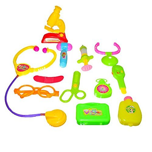 12 Piece Doctor Kit | Little Doctors Kit with Adorable Accessories: Stethoscope Thermometer Syringe Water Bag and More