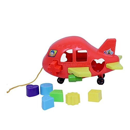 dazzling toys Absolutely Sweet Riding Airplane Baby Blocks Set (D233)