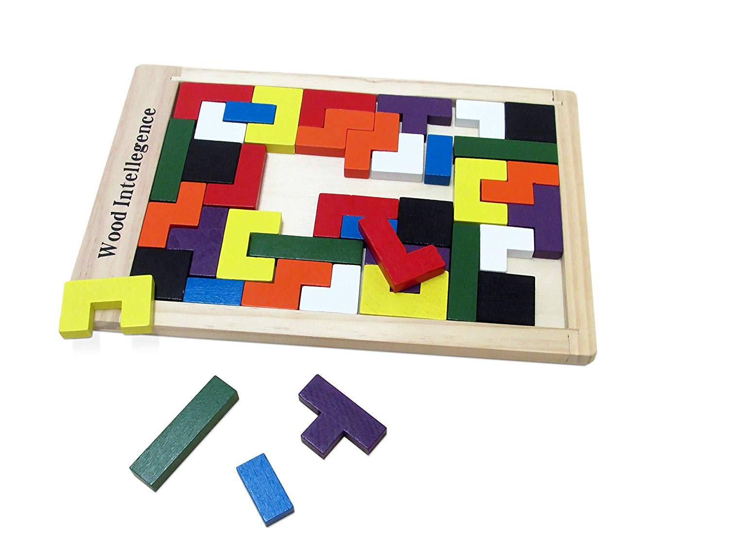 Gift Idea | Dazzling Toys Wooden Multicolored Titres Game with 40 Pieces | Great Christmas Gift Idea