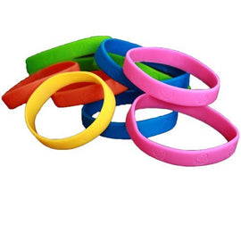24 Pack Bracelets | Rubber Neon Monkey Wristbands | Pack of 24 | Makes Great Kids Party Favors, Rewards, Gifts.