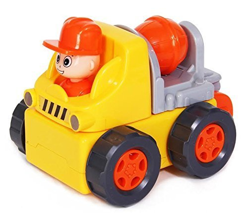 "Electric Toy Construction Truck - 9 piece ""Assemble Yourself"" Building Car - Drives and Plays Music - by Dazzling Toys"