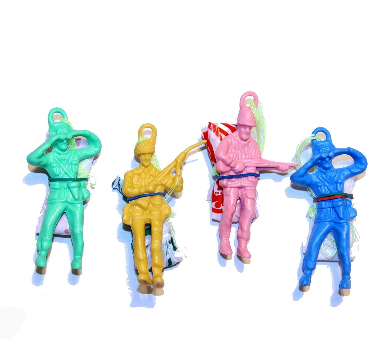 72 Pack Dazzling Toys Vinyl Paratroopers Assortment Bulk (6 Dozen) Makes a Nice Decoration to Any Matching Themed Party