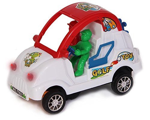 Bump and Go Toy Car - Battery Operated Novelty Toy Car with Bump and Go Action | Music | Lights for Kids 3 Years and Up - Car Changes Direction on Contact