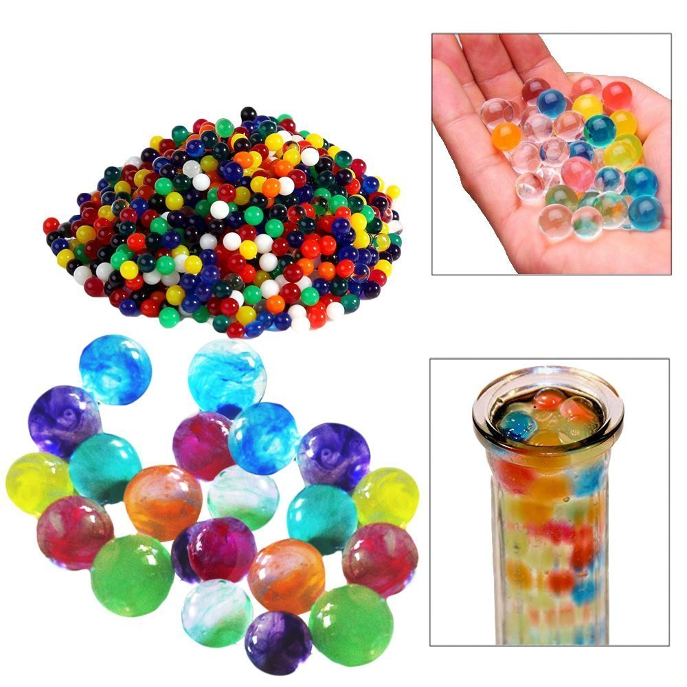 Water Beads | 1000 Pieces Mixed Colors Water Pearls | Great for Vases, Plants, Decorations