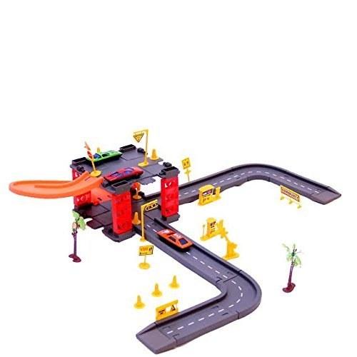 Parking Tower Track Set with 3 Cars | Christmas Gift | Parking Tower and Garage Set | Dazzling Toys