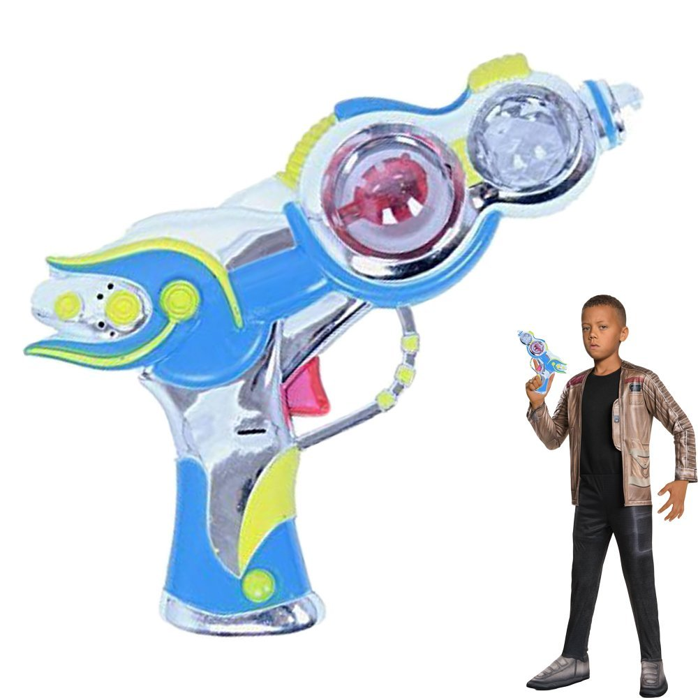 Dazzling Toys Space Gun Spinning Lights and Sound Toy Plastic Pistol