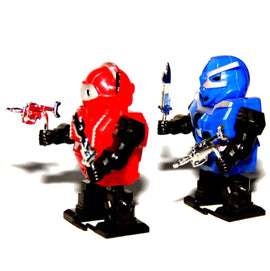 Dazzling Toys Wind-up Robots - Pack of 6 (D129)