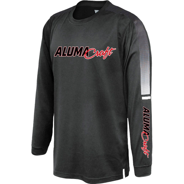Mens Striped Shooter Long Sleeve Performance Tee