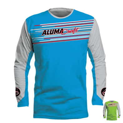 Neon Digi-Stripe Long Sleeve Performance Tee