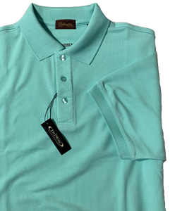 AQUA MOISTURE WICKING GOLF SHIRT