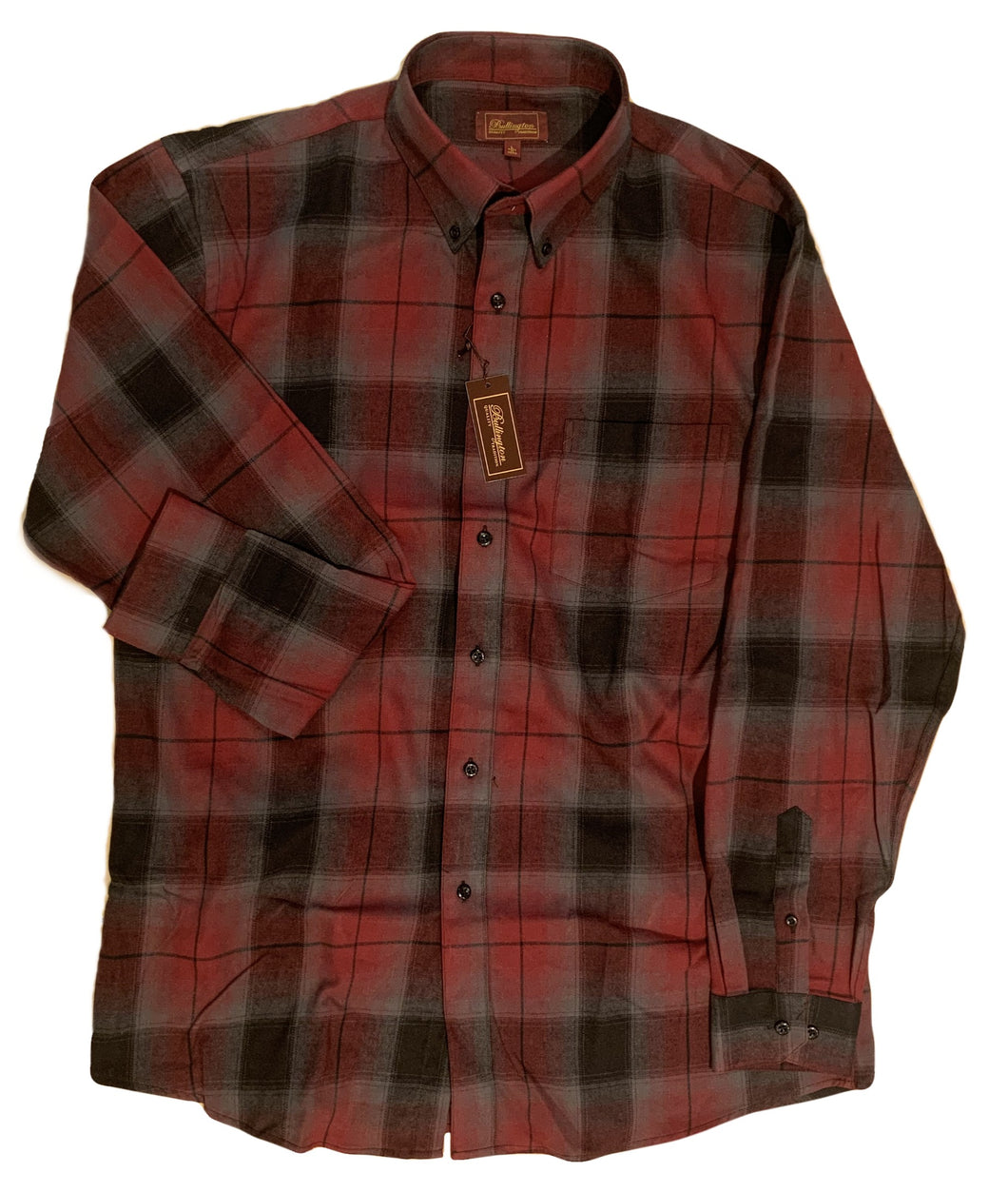 LONG-SLEEVE BRUSHED COTTON BLEND FLANNEL