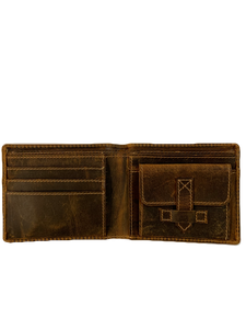 VINTAGE LEATHER BI-FOLD WALLET