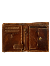 Load image into Gallery viewer, VINTAGE LEATHER TRI-FOLD WALLET