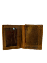 Load image into Gallery viewer, VINTAGE LEATHER GUSSETED POCKET WALLET