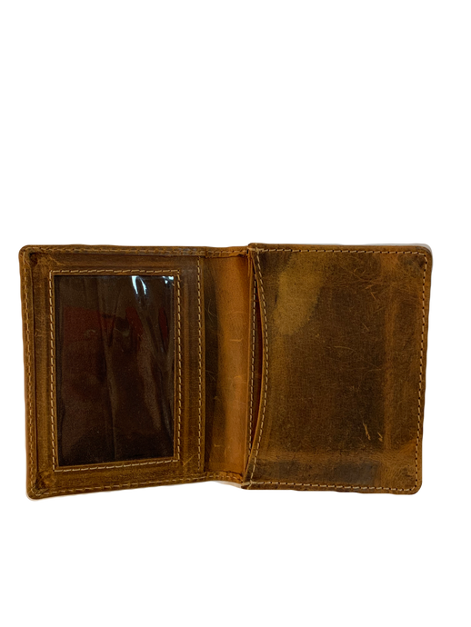VINTAGE LEATHER GUSSETED POCKET WALLET