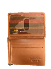 Load image into Gallery viewer, LEATHER BI-FOLD WALLET WITH MONEY CLIP