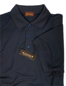 NAVY MOISTURE WICKING GOLF SHIRT