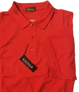 RED MOISTURE WICKING GOLF SHIRT