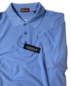 SKY BLUE MOISTURE WICKING GOLF SHIRT
