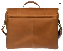 Load image into Gallery viewer, LEATHER MESSENGER BRIEFCASE