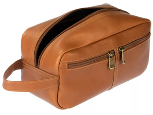 LEATHER SHAVE BAG
