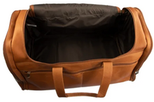 Load image into Gallery viewer, U-SHAPE ZIPPER TOP LOAD LEATHER DUFFLE BAG