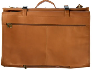 LEATHER TRI-FOLD GARMENT BAG