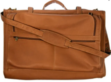 Load image into Gallery viewer, LEATHER TRI-FOLD GARMENT BAG