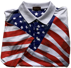 "THE PATRIOT ""PRO"" PERFORMANCE DRI-FIT GOLF SHIRT"