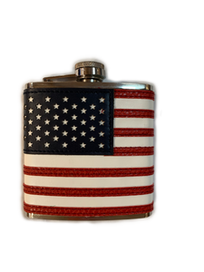 PATRIOT LEATHER FLASK