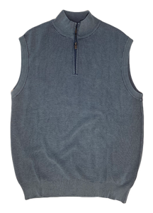 MARINE THERMAL SANDWASHED SWEATER VEST