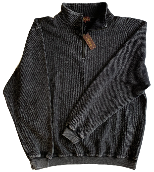 Black Washed Zip Mock