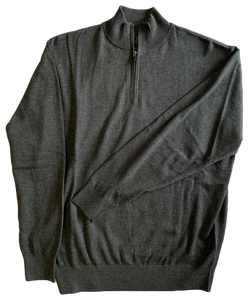 Grey Zip Mock Sweater