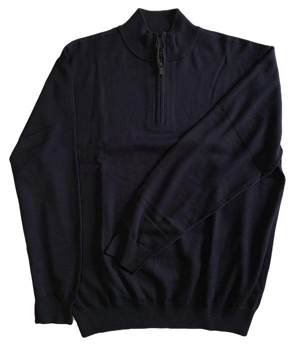 Navy Zip Mock Sweater