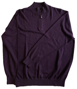 Purple Zip Mock Sweater