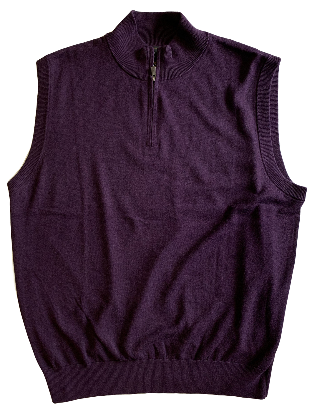 Purple Zip Mock Vest
