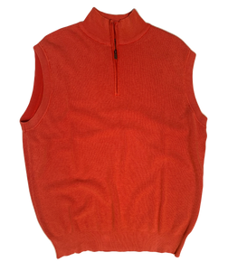 RED THERMAL SANDWASHED SWEATER VEST