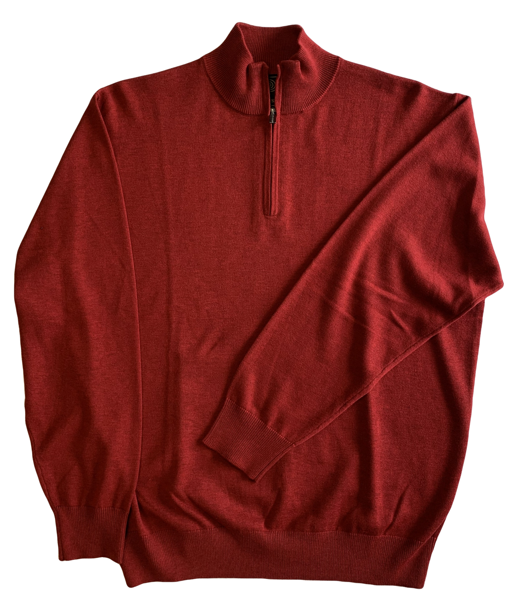 Red Zip Mock Sweater