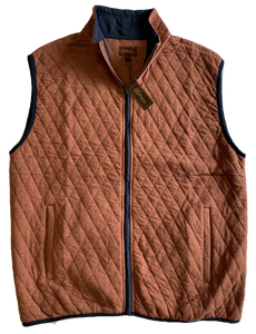 Rust Quilted Zip Mock Vest