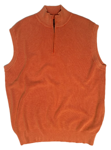 CORAL THERMAL SANDWASHED SWEATER VEST