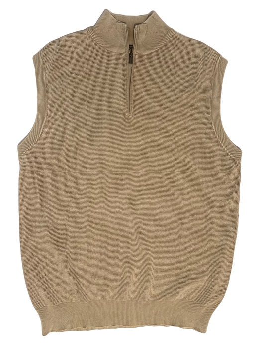TAN THERMAL SANDWASHED SWEATER VEST