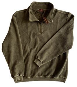 Taupe Washed Zip Mock