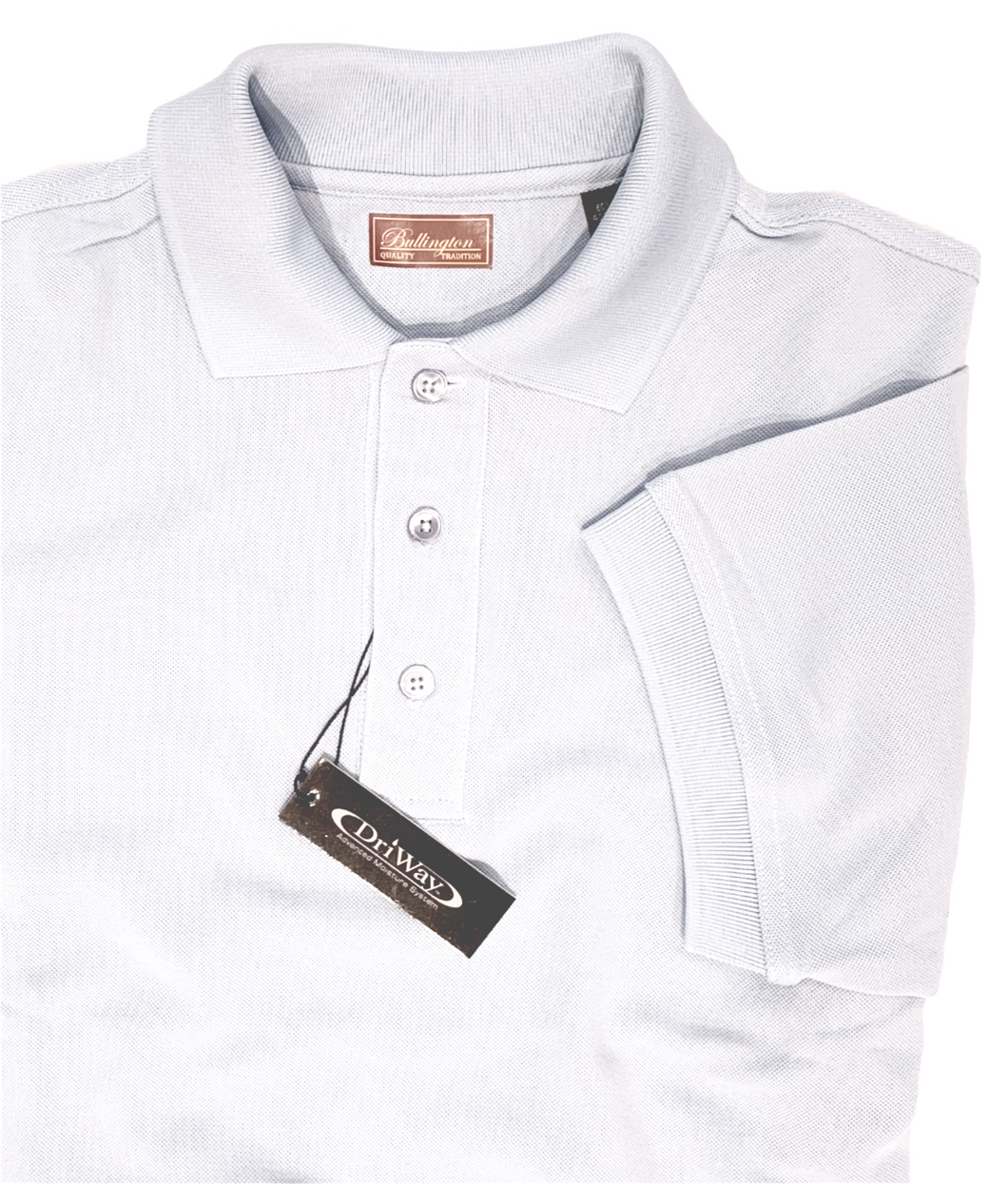 WHITE MOISTURE WICKING GOLF SHIRT