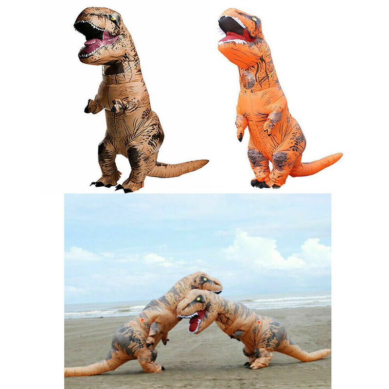 T-REX Dinosaur Inflatable Dino Costume Outfits Suit For Adult kids Cosplay Party