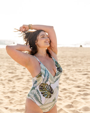 Palm Leaf One-Piece Swimsuit | Kindkinis | Los Angeles, California