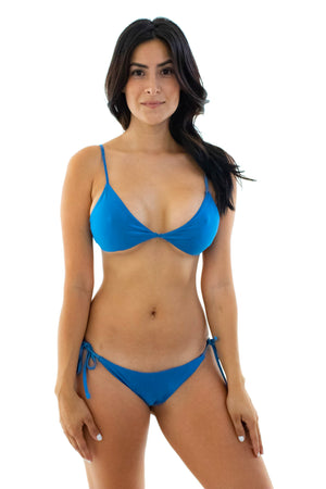Stephanie Self-Tie String Bikini Set - Kindkinis Swimwear
