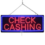 Check Cashing - Large LED Window Sign (#1020) - Led Open Signs